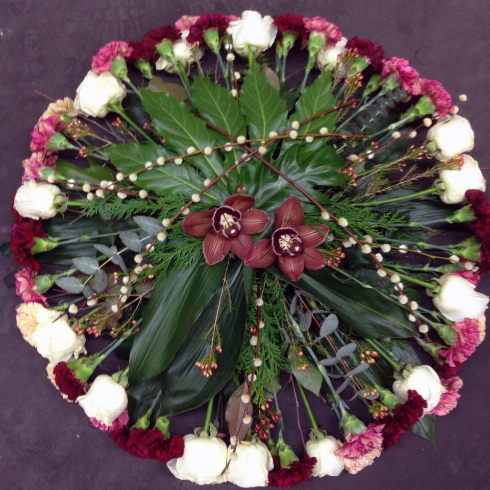 Rund Begravningsdekoration - Floristutbildarna