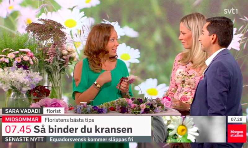 Floristutbildarna i SVT Morgonstudion