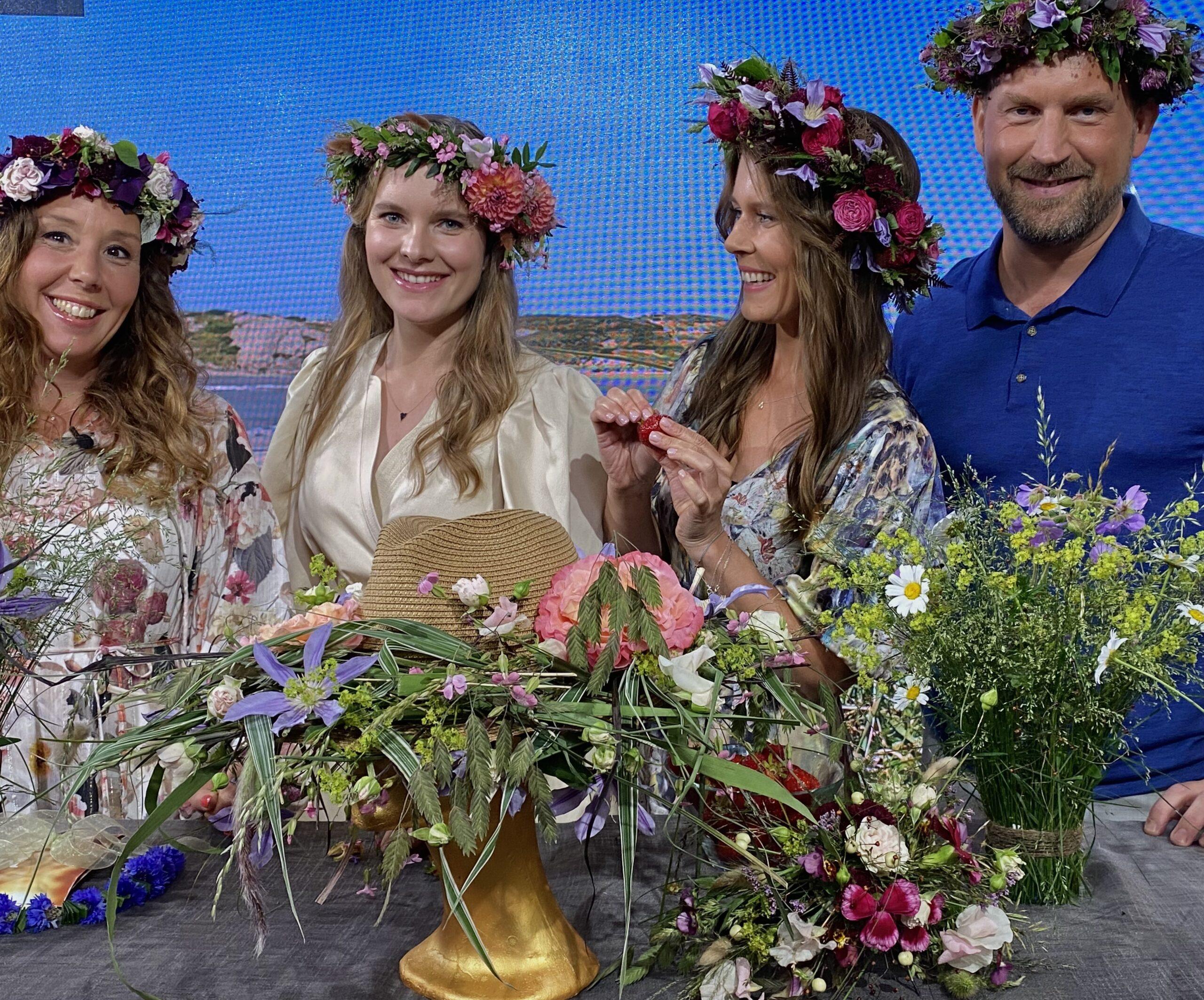 Floristutbildarna i SVT Morgonstudio